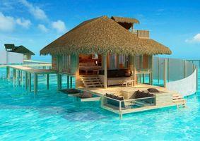 Бесплатные фото тропики,море,бунгало,разное