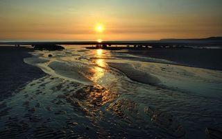 Фото бесплатно природа, закат, вода