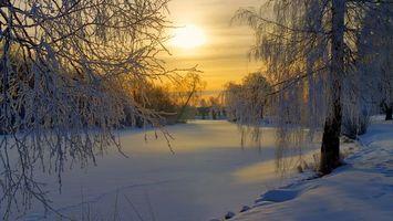 Заставки мороз, зима, сугробы