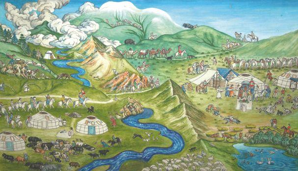Бесплатные фото environment,nomad empire of eternal blue sky,wedding,ceremony,mongolia,old,green,picture