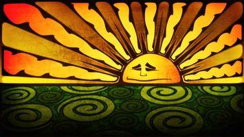 Бесплатные фото цвет, рисунок, солнце