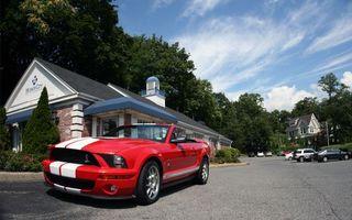 Бесплатные фото автомобиль,gt,500,кабриолет,красный,решетка,фары