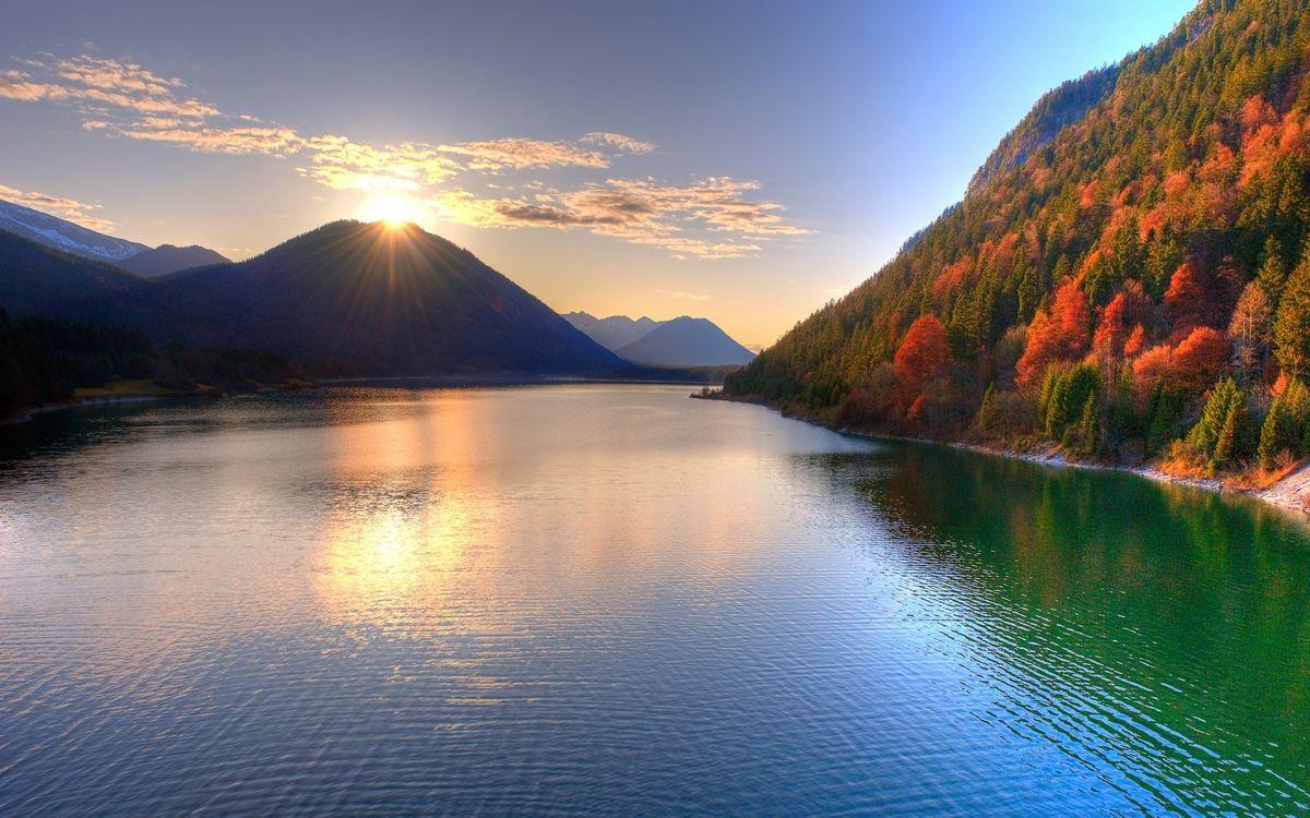 Фото бесплатно закат, река, воды - на рабочий стол