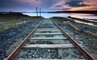Бесплатные фото дорога,железная,рельсы,шпалы,путь,океан,вода