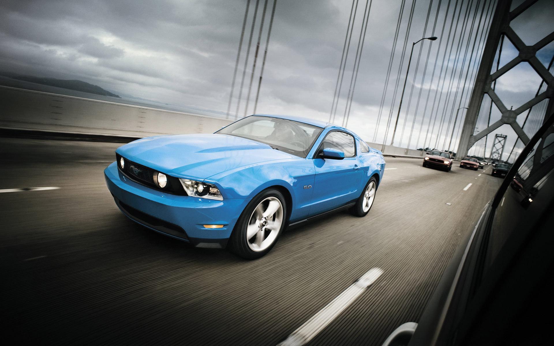 форд, мустанг, синий