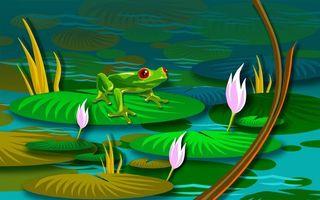 Фото бесплатно глаза, болото, трава