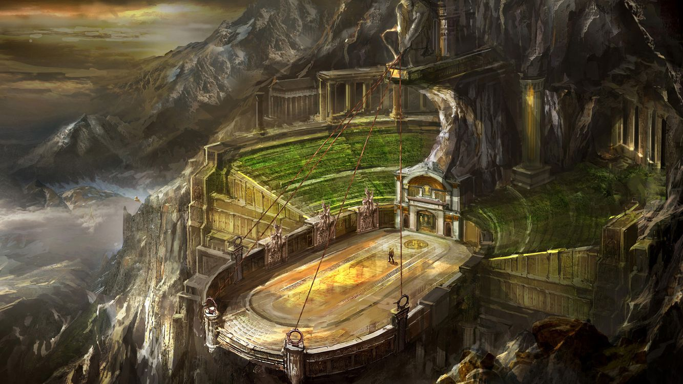 Фото бесплатно горы, стройка, арена - на рабочий стол