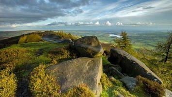 Фото бесплатно камни, трава, долина