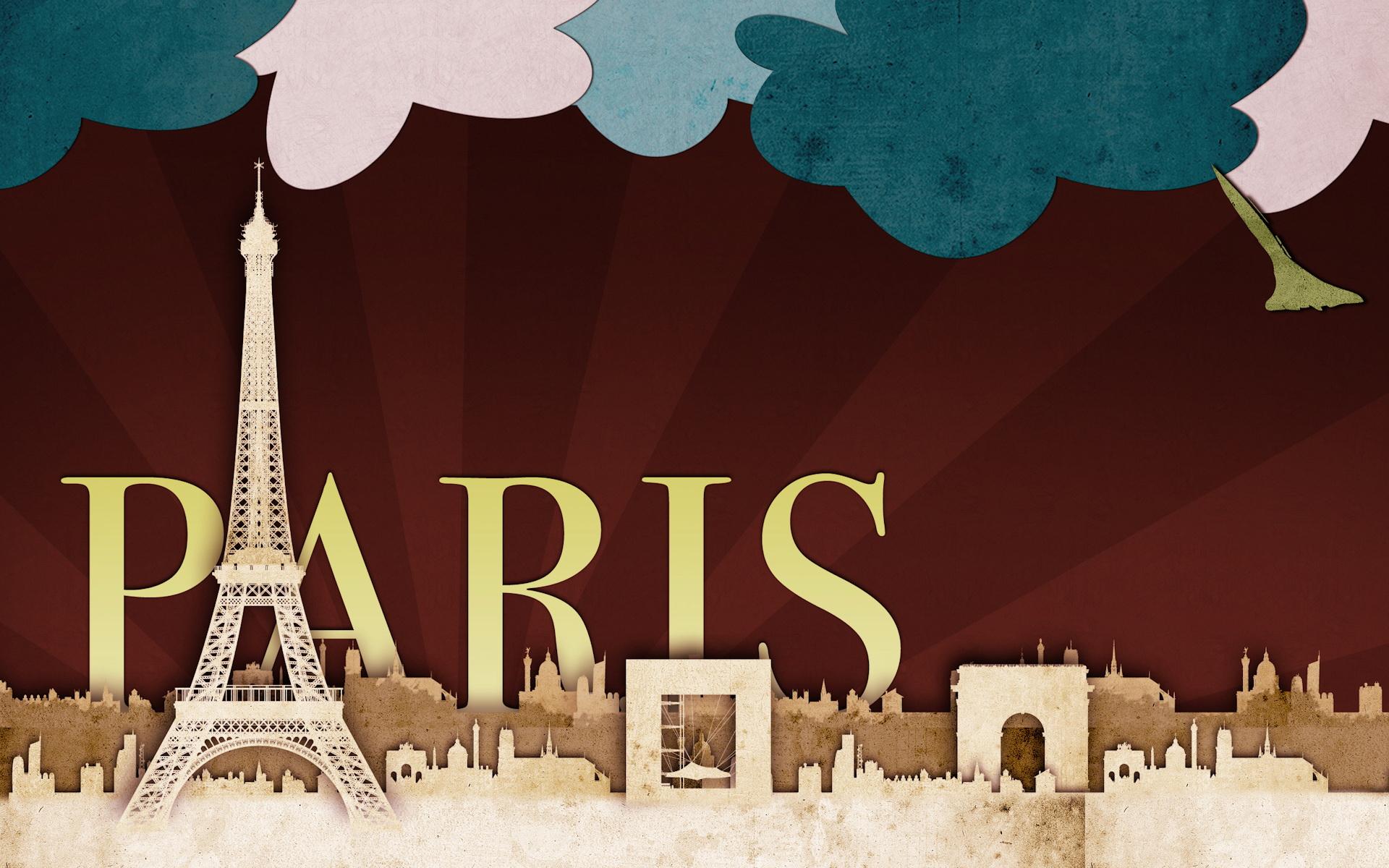 Открытки, картинки с надписью париж