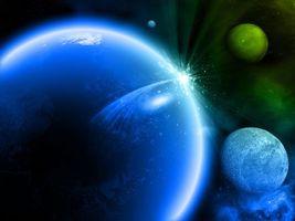 Фото бесплатно планета, звезды, галактики