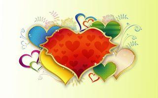 Бесплатные фото сердечки,узоры,рисунок,листья,ветки,фон,желтый
