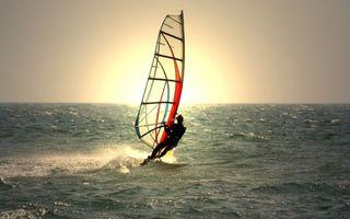 Заставки скайсерфинг,серфер,доска,парус,море,ветер,скорость