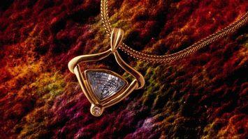 Обои украшение, драгоценность, ювелирное изделие, подвеска, цепочка, кулон, камень