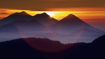 Фото бесплатно вечер, горы, закат