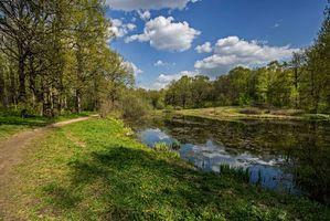Бесплатные фото весна,вода,небо,дорога,пейзажи
