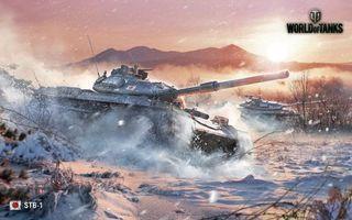 Бесплатные фото world of tanks,японский,средний,танк,stb-1,игра,танки