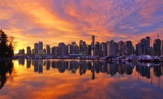 Бесплатные фото закат, рассвет, лучи, море, океан, дома, деревья