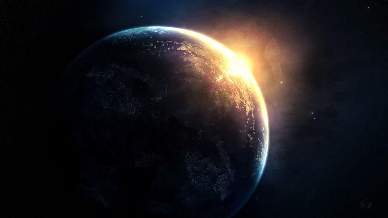 Фото бесплатно земля, луна, планета, спутник, туманность, звезды, космос, космос