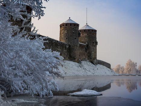 Фото бесплатно Крепость Олавинлинна, пейзаж, замки Финляндии