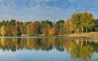 Фото бесплатно осень, озеро, гладь