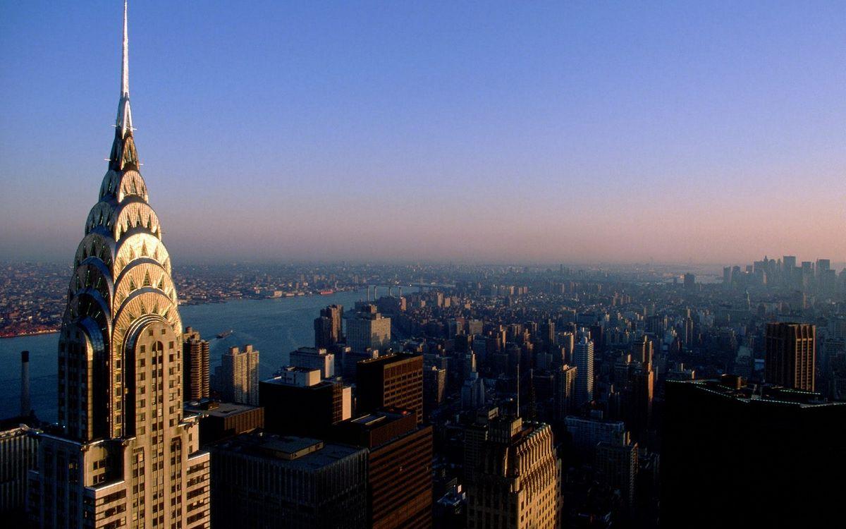 Фото бесплатно дома, здания, крыши, небоскребы, башня, река, небо, город - скачать на рабочий стол