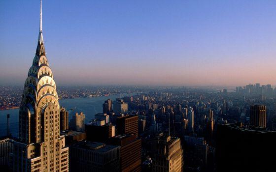 Фото бесплатно здания, крыши, река