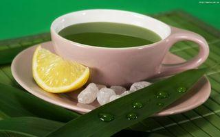 Фото бесплатно зеленый чай, чашка, лимон