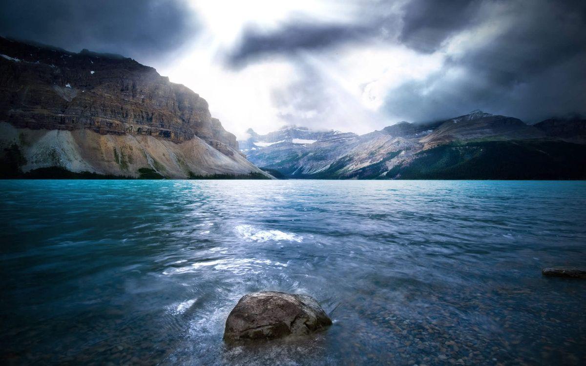 Фото бесплатно залив, море, камень, горы, скалы, облака, солнце, лучи, природа