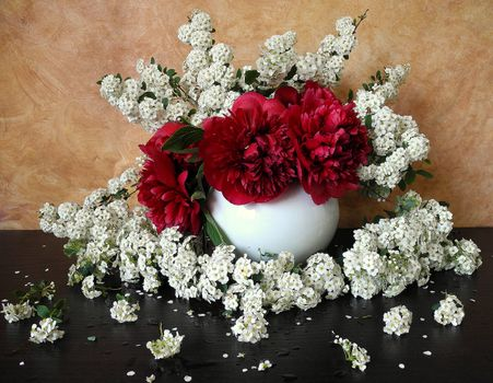 Photo free flowers, vase and without registration
