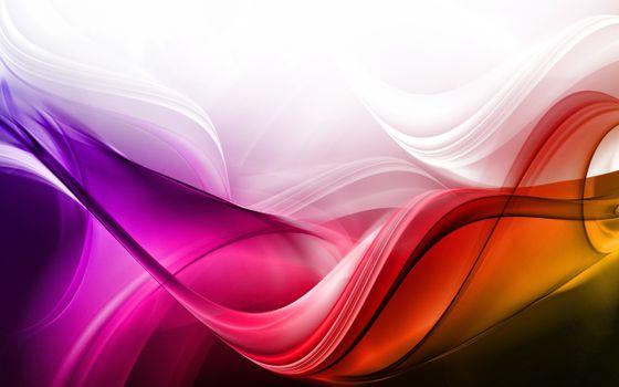 Фото бесплатно разноцветные линии, волнистые, хаотичные