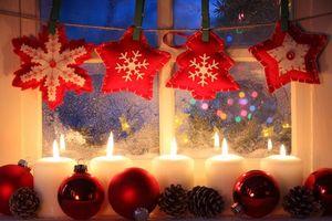 Фото бесплатно новый год, рождество, свеча