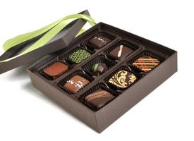 Заставки коробка, конфеты шоколад, лента