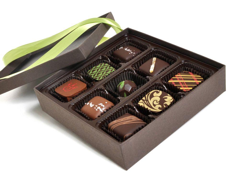 Фото бесплатно коробка, конфеты шоколад, лента, еда