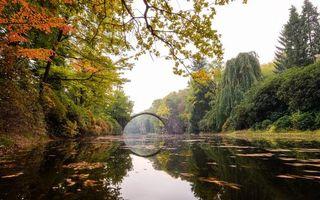 Фото бесплатно Мост Дьявола, Ракотцбркский мост в Германии, Ракотцбркский край