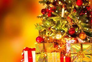 Фото бесплатно подарки, ёлка, Новый год