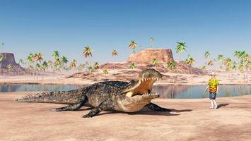 Бесплатные фото крокодил,хищник,оскал,опасность,art