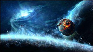 Фото бесплатно астероиды, метеориты, звезды