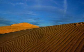 Фото бесплатно пустыня, песок, волны, барханы, дюны, небо