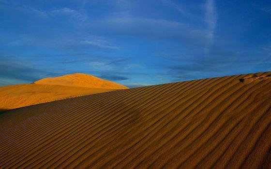 Photo free sky, desert, waves