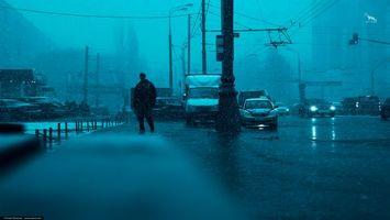 Фото бесплатно ART IRBIS PRODUCTION, Москва, дорога, машиины, трауар, мужчина, туман, снег, Khusen Rustamov, Хусен Рустамов, xusenru, Природа, Россия, Город, мрак