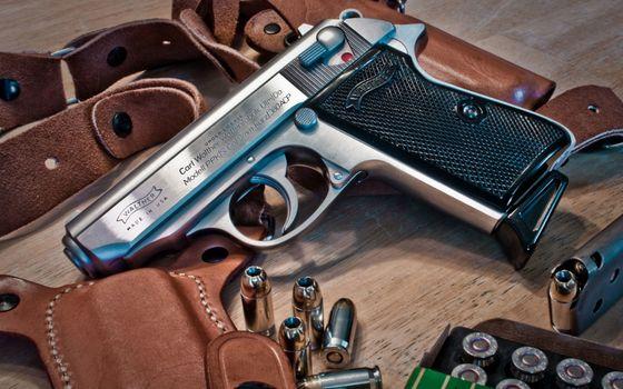 Фото бесплатно пистолет, затвор, гравировка