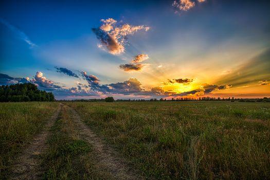 Фото бесплатно пейзажи, солнечные лучи, солнечный свет