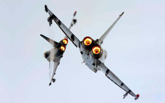 Фото бесплатно самолеты, небо, полет