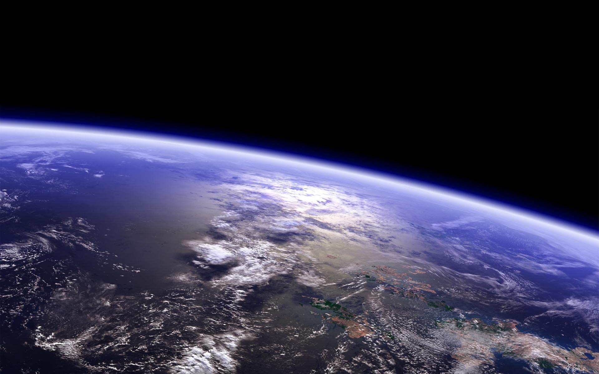Обои Восход на орбите картинки на рабочий стол на тему Космос - скачать  № 1761487 без смс