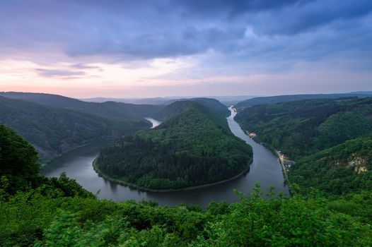 Photo free the Saar River, the Saar River Loop in Metlach, Germany