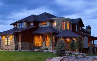 Бесплатные фото дом,дизайн,крыша,окна,свет,двор,газон