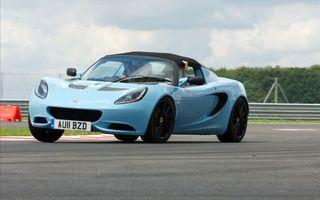 Заставки lotus, elise, club, racer, голубой, кабриолет, спортивная, трасса, машины