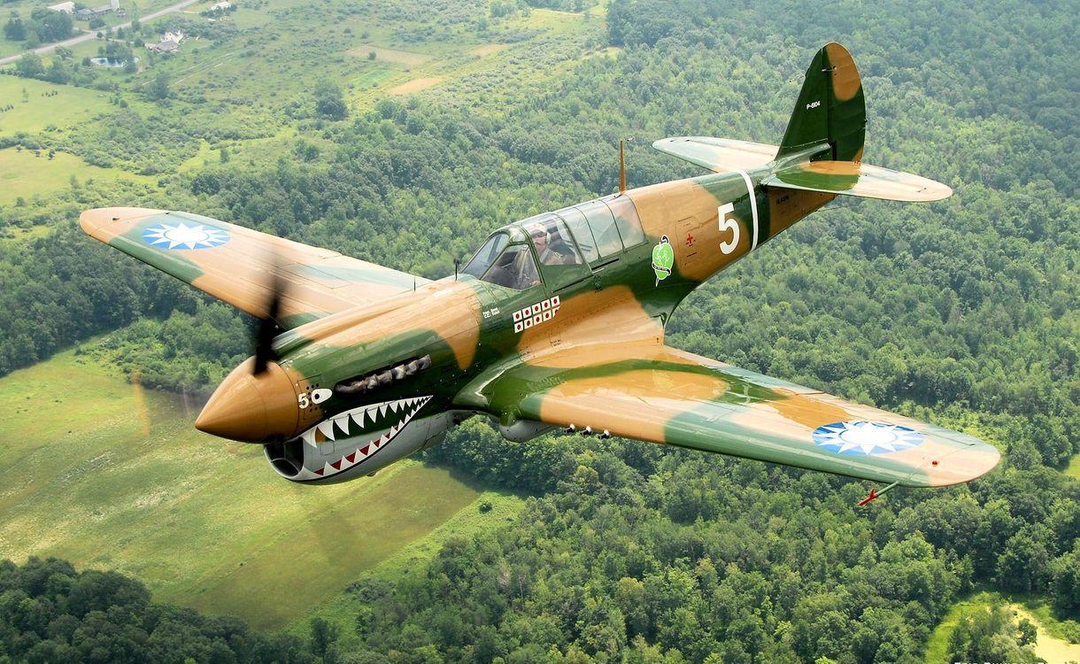 Фото бесплатно over geneseo, p-40n warhawk, самолет, curtiss, разное - скачать на рабочий стол