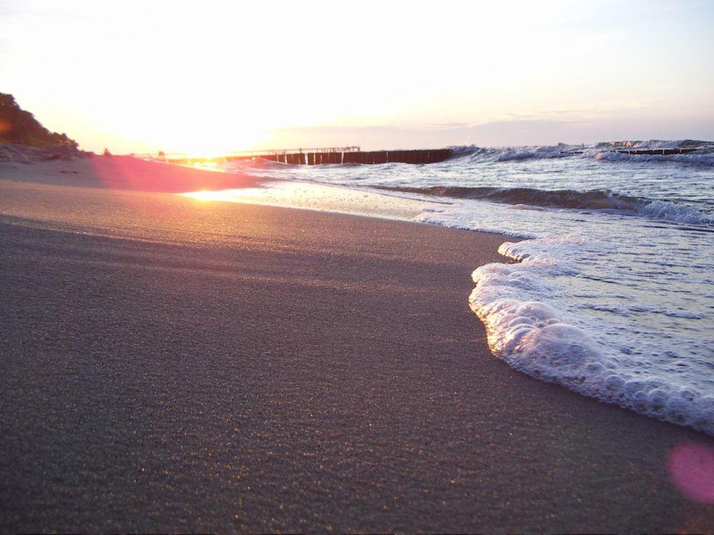 Фото бесплатно берег, океан, бриз, волна, пляж, закат, разное