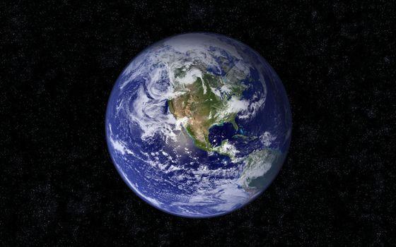 Фото бесплатно земля, планета, звезды